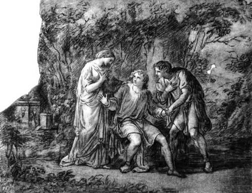 «Ифигения в Тавриде». Рис. А. Кауфманн