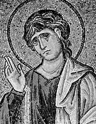 «Св. Иоанн». Фрагмент мозаики (церковь Успения близ Афин)