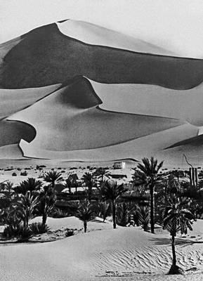 Барханный рельеф в Сахаре
