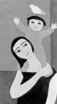 Дафтари Лейли Матин. «Женщина с ребёнком»