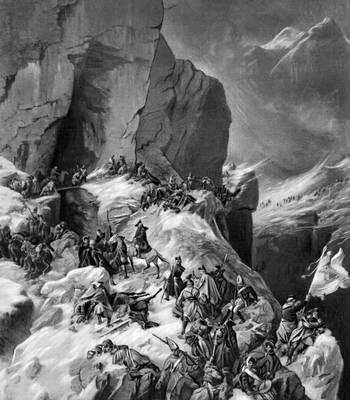 Коцебу А. Е. «Переход русских войск через Паникс в Альпах»