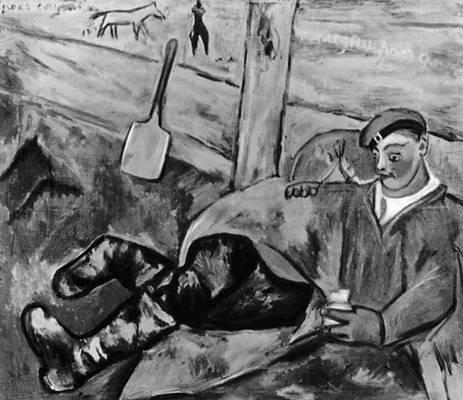 Ларионов М. Ф. «Отдыхающий солдат»