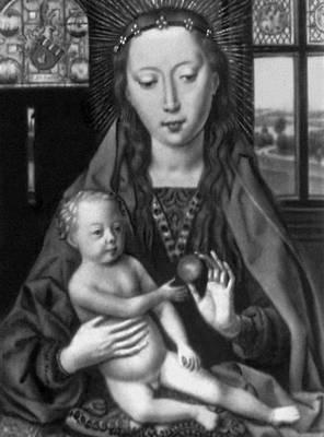 Мемлинг Х. «Богоматерь с донатором Мартином ван Ньивенхове». Левая часть диптиха