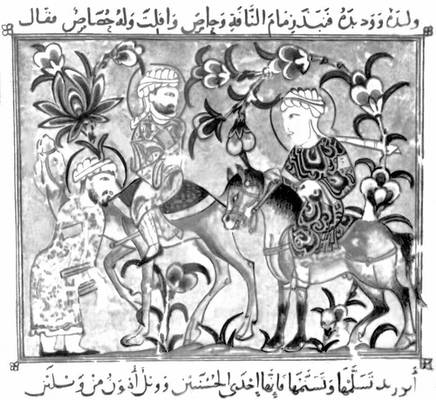Миниатюра рукописи «Макамат» (Египет)
