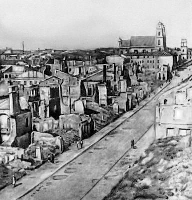 Минск. Разрушенная улица Ленина