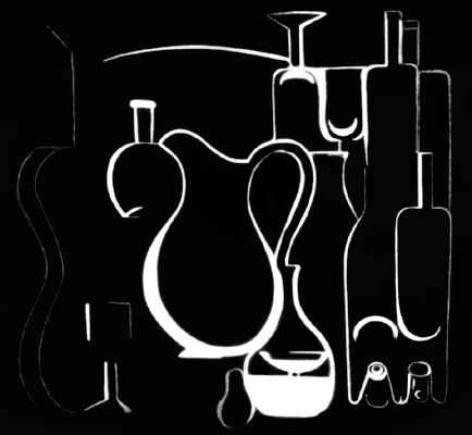 Озанфан А. «Графика на черном фоне»