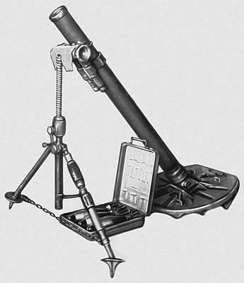 Советский 82-мм миномёт. Образец 1937 г.