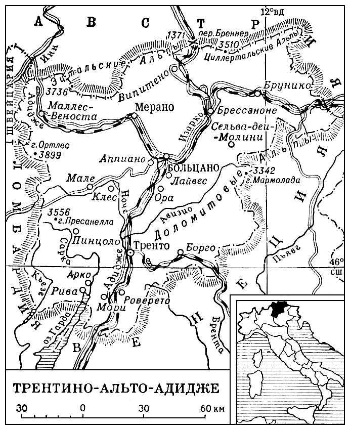 Трентино-Альто-Адидже (карта)