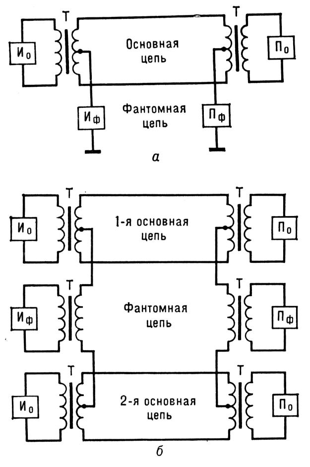 Электрические схемы фантомных
