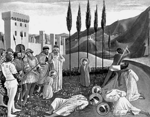 Фра Анджелико. «Обезглавление святых Козьмы и Дамиана»