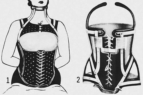 Шинно-кожаный корсет