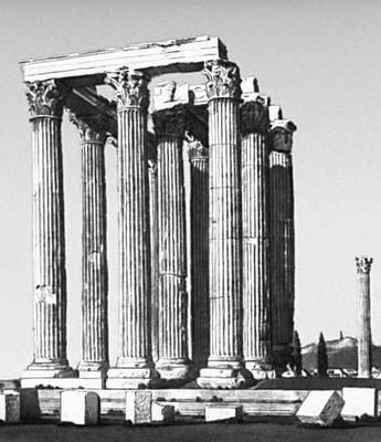 Эллинистическая культура. Руины храма Зевса Олимпийского в Афинах