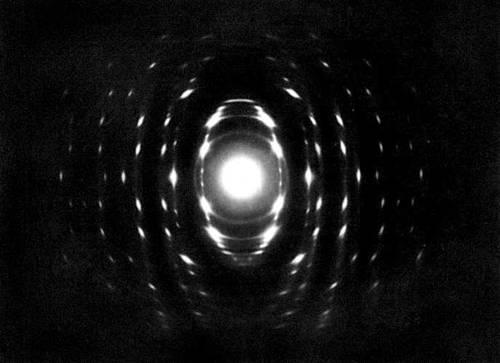 Электронограмма, полученная от текстуры