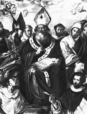 Эррера Старший Ф. де. «Св. Василий Великий, диктующий устав монашеской жизни»