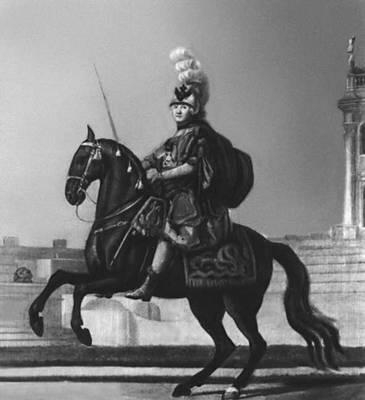Эриксен В. «Екатерина II в преображенском мундире на коне»