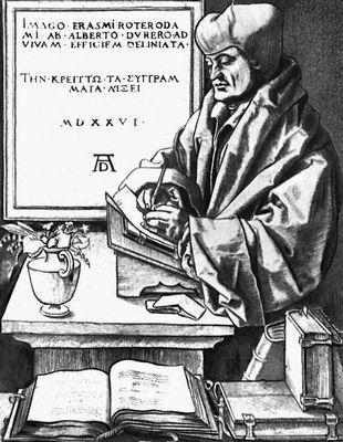 Эразм Роттердамский. Портрет работы А. Дюрера
