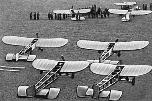 Эскадрилья французских самолётов. Первая мировая война