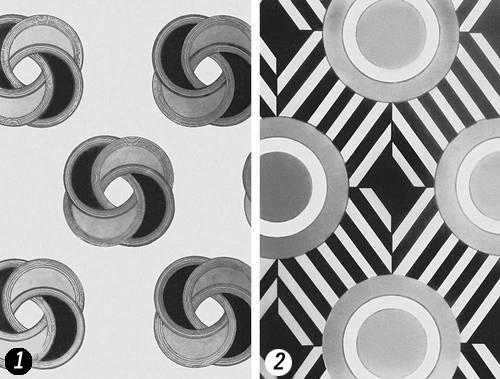 Эскизы рисунков для тканей
