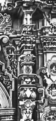 Эстипите на фасаде церкви Ката (Гуанахуато, Мексика)