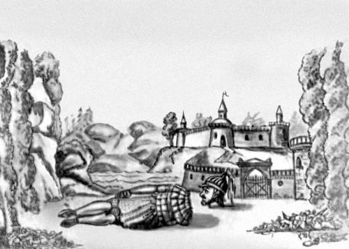 Эскиз декорации к балету «Руслан и Людмила, или Низвержение Черномора, злого волшебника» Ф. Шольца