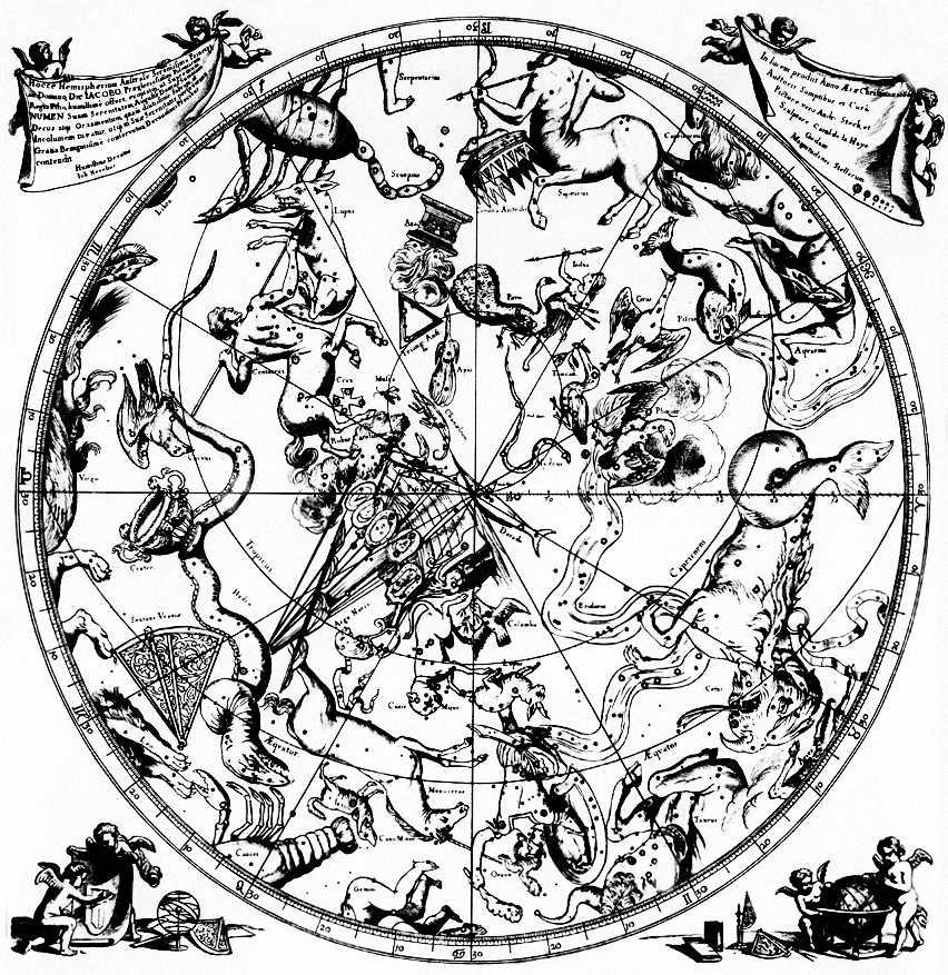 Южное полушарие (карта, 17 в.)