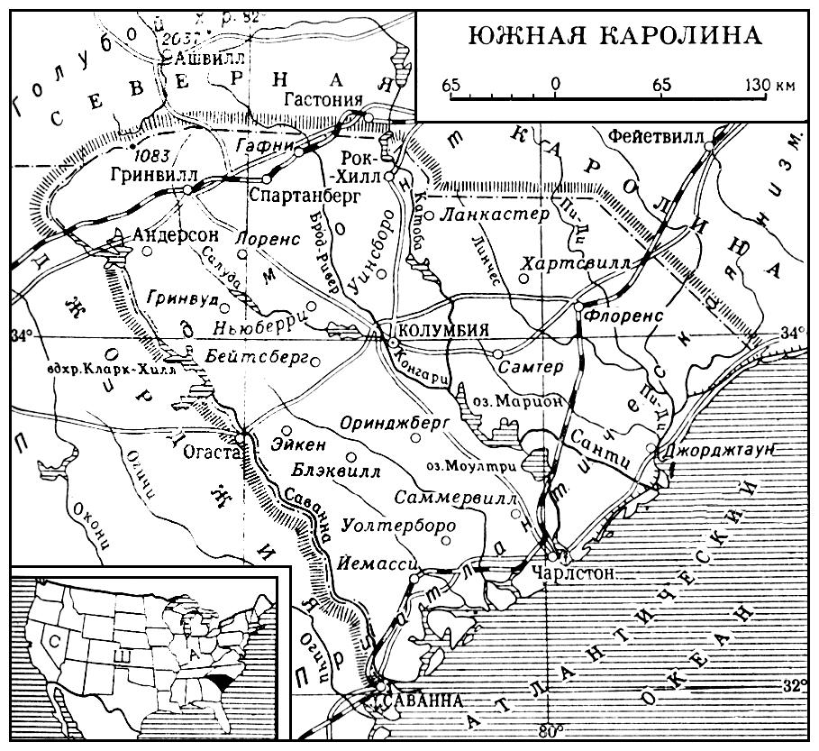 Южная Каролина (карта)