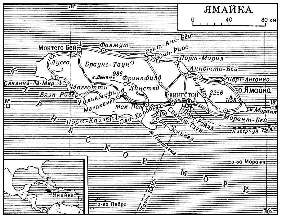 Ямайка (карта)