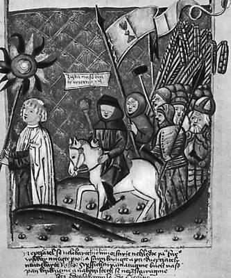 Ян Жижка во главе гуситского войска